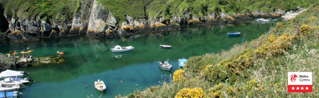 Solva Harbour - a great place to canoe or kayak