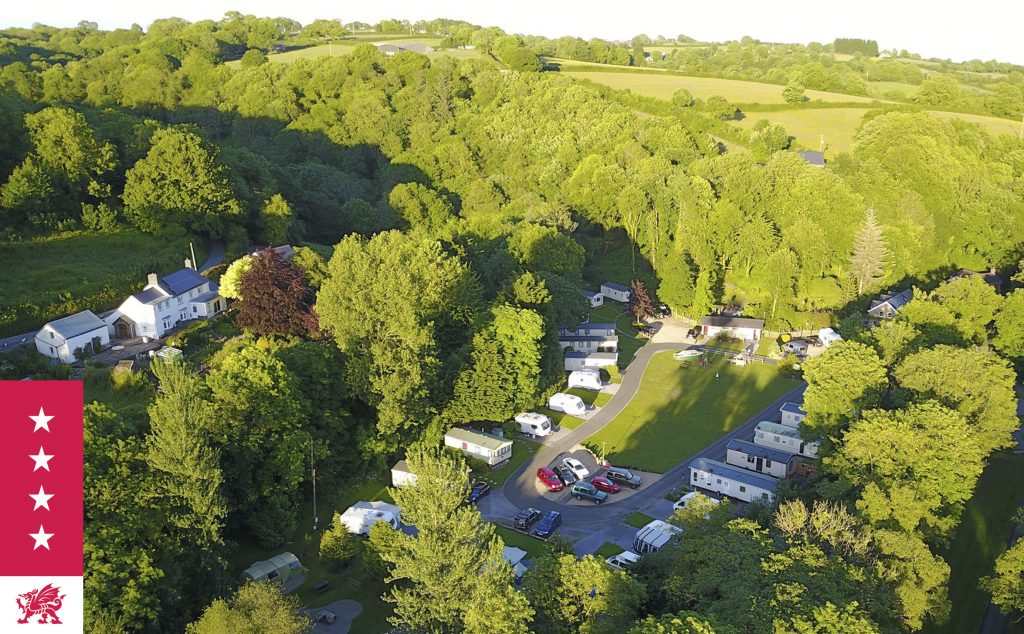 Drone assisted photograph of Mill House Caravan Park
