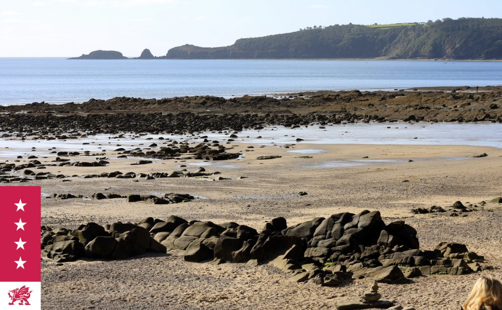 Monkstone Point from Wiseman's Bridge Beach