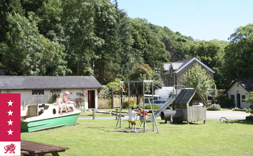 Children's play area at Mill House Caravan Park Saundersfoot