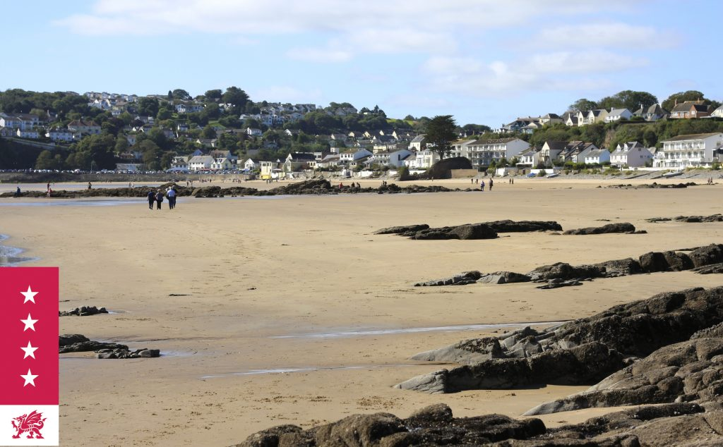 Saundersfoot with it's beautiful beach