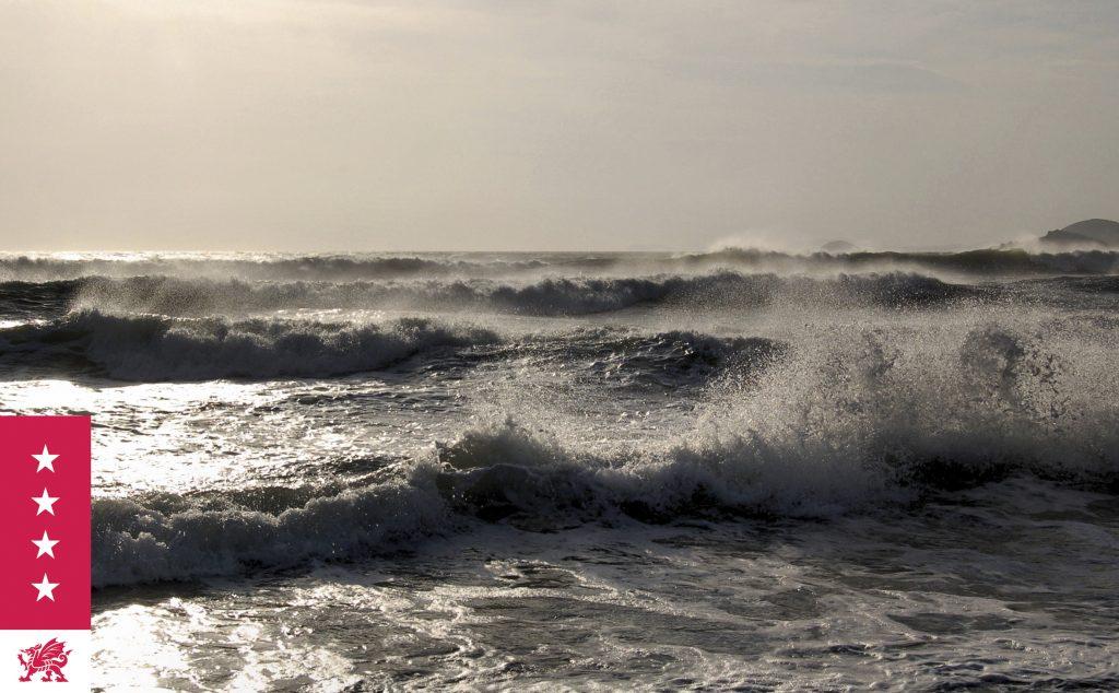 Wild waves around the coast Pembrokeshire National Coast Park